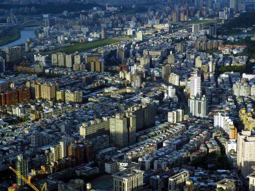 Taivanas,taipei,Kinija,kapitalas,perspektyva,panorama,dangoraižis,miestas,taipei 101