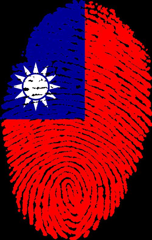 taiwan flag fingerprint