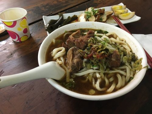 taiwanese meal beef noodles food