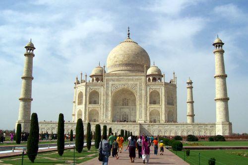 taj mahal seven wonders marble