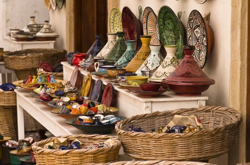 tajine pottery colorful
