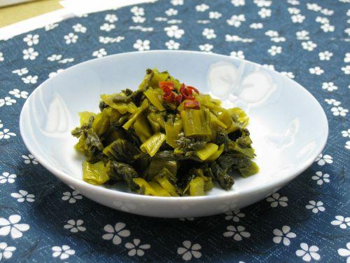 takana zuke pickles chopped