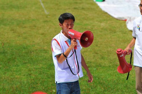 talk shout megaphone