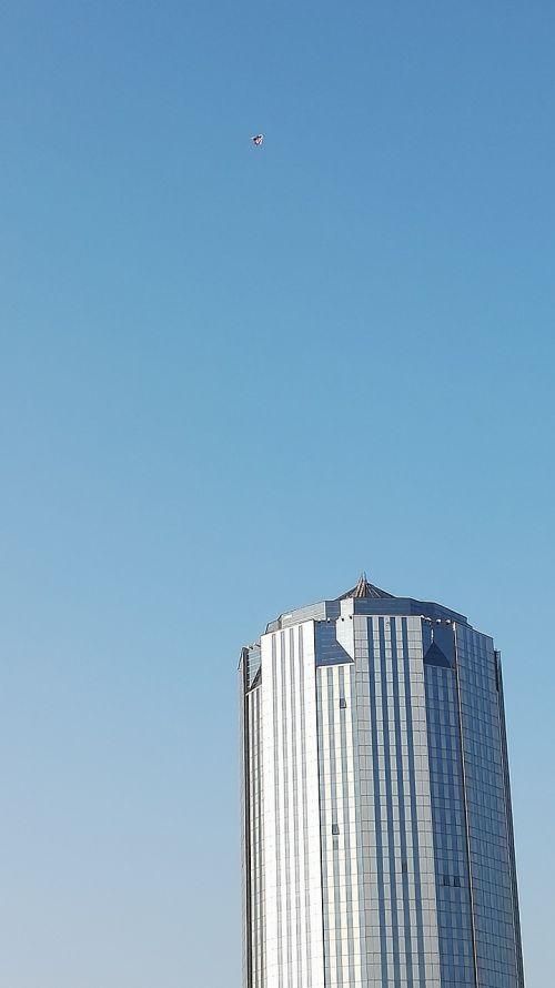 tall buildings aircraft look