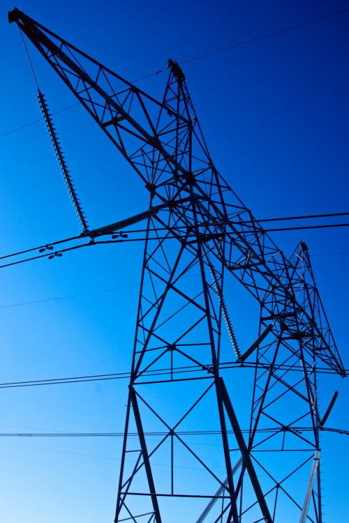 Tall Power Line Girder