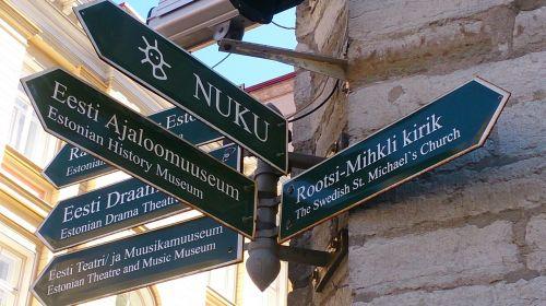 tallinn estonia road signs
