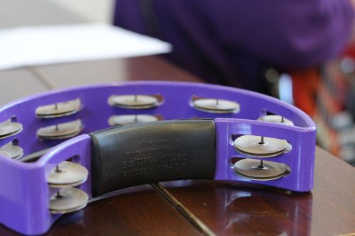 tambourine purple percussion