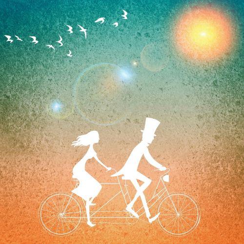tandem togetherness pair