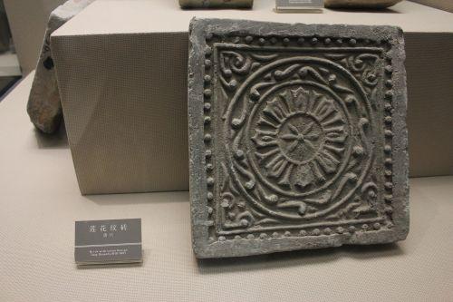 tang dynasty lotus design brick