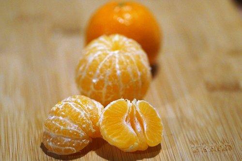 tangerines  peeled  orange