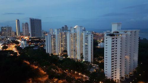 tanjong tokong penang marina bay apartments evening view tanjong tokong