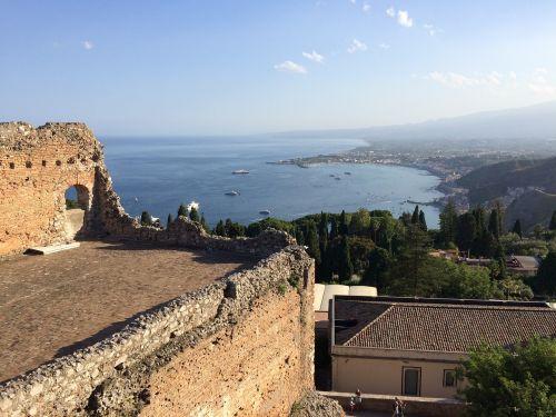 taormina landscape view