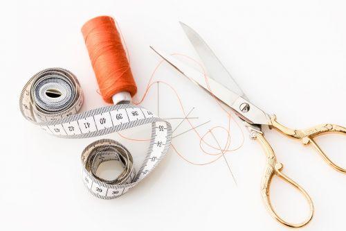 tape measure scissors fabric scissors