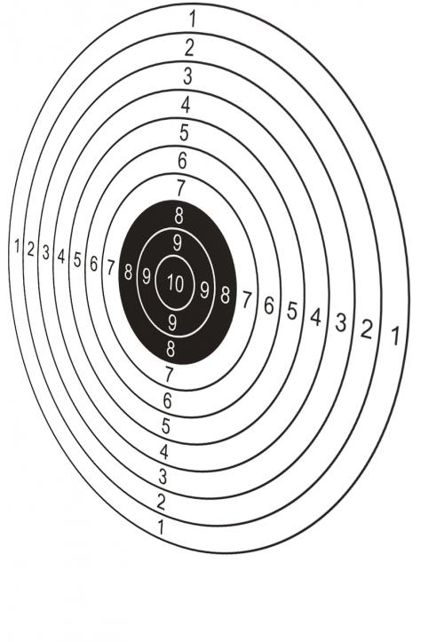 target rotated target shooting
