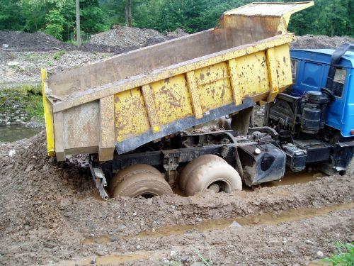 tatra in the mud building dump truck