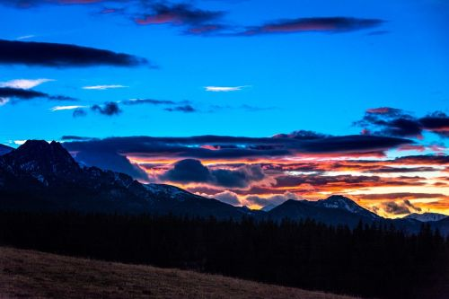 tatry sunset landscape