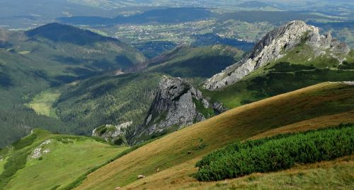 tatry mountains trail in the red peaks of
