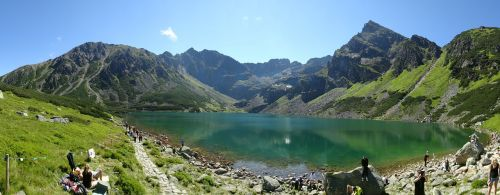 tatry mountains black pond a tracked