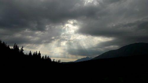 tatry,scenoje,juoda ir balta,šviesa,kraštovaizdis,kalnai