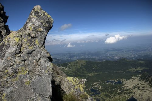 tatry landscape top view