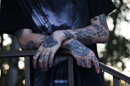 tattoo hands young