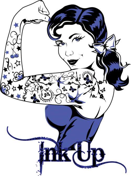 tattoo ink pinup