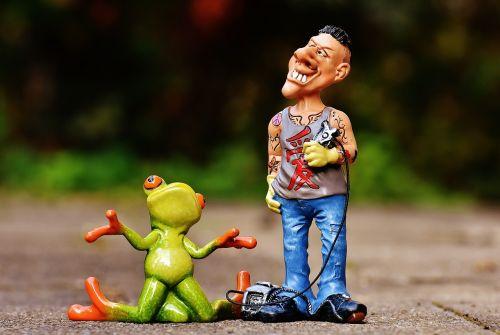 tattoo artist frog customer