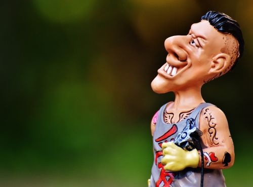 tattoo artist figure funny