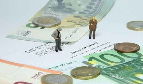 tax office  tax assessment  miniature figures