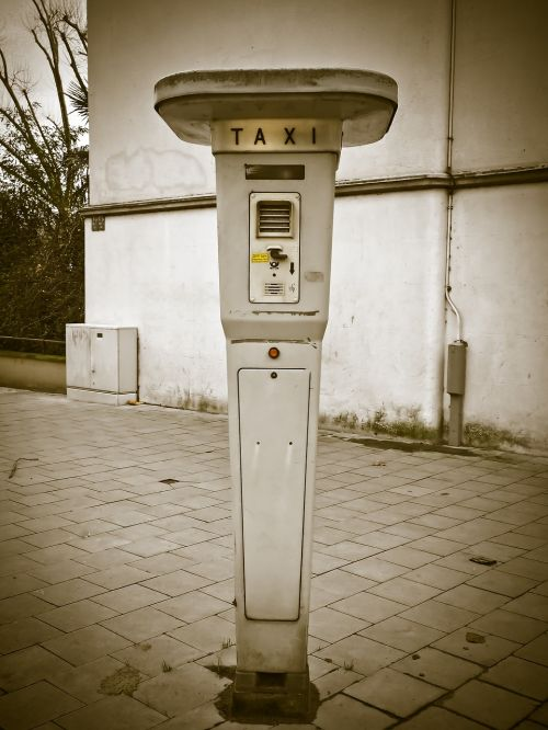 taxi rufsaeule taxi stand