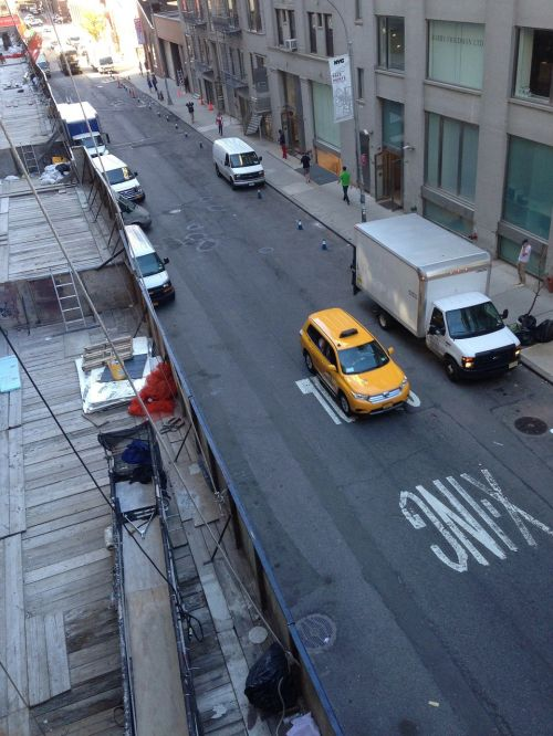 taxi street city