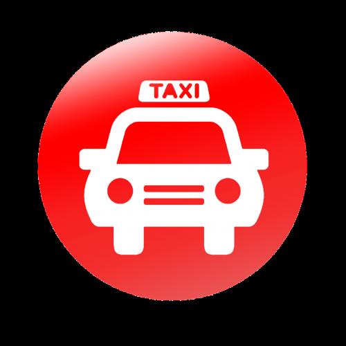 taxi computer icon vector