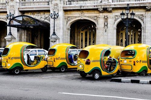 taxi  coco taxi  taxi in cuba