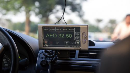 taxi taximeter display