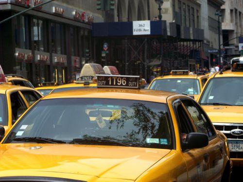 5-asis, alėja, Taksi, Taksi, nyc, naujas, York, miestas, geltona, taksi 5 a
