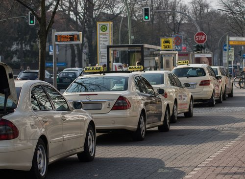 taxis  taxi stand  taxi