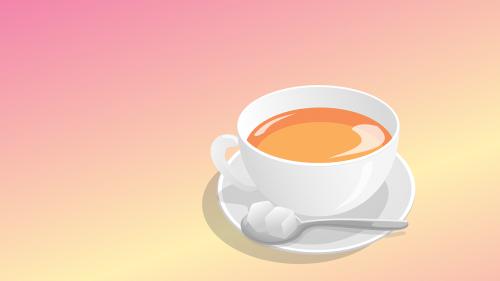 tea cup sugar