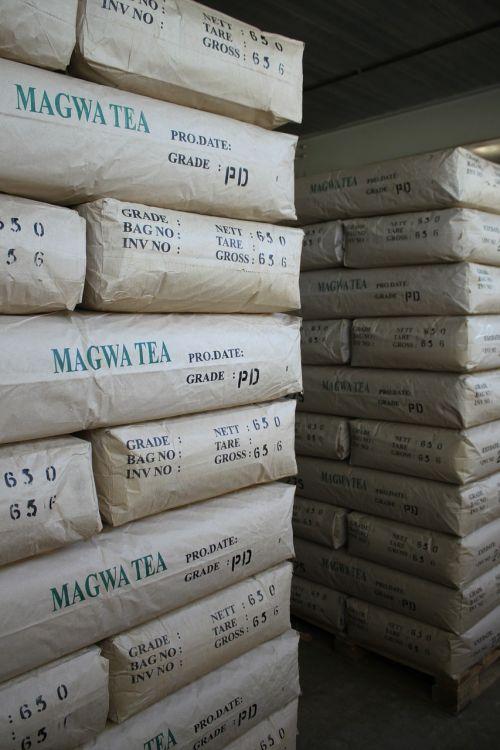 tea warehouse stacked