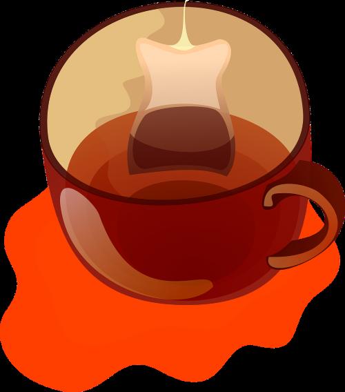 tea teabag cup
