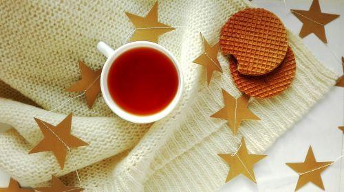 tea drinks wafer