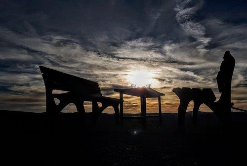tea  loneliness  sunset