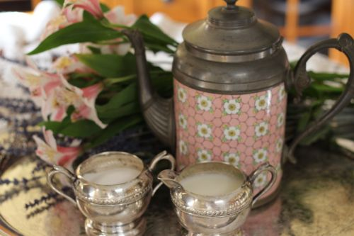 tea sugar and cream coffee