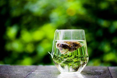 tea cup green tea bag