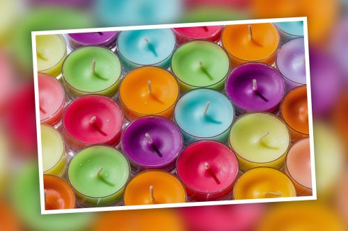 tea lights candles colorful