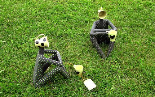 tea pair sculpture humor