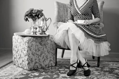 tea party tea black and white
