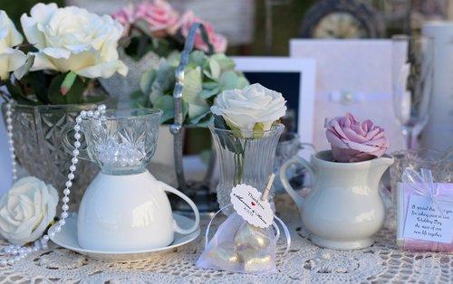 tea party  vintage wedding  tea cups