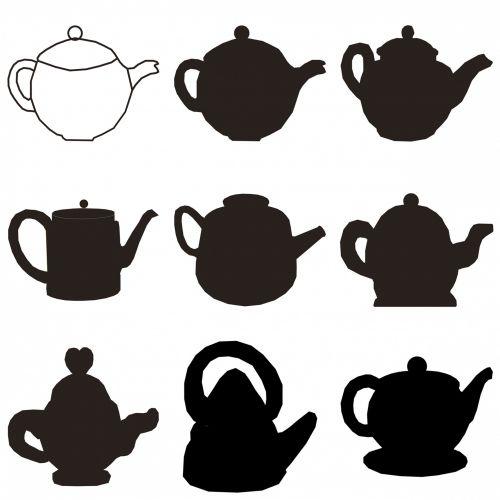 Tea Pots Set Of Nine