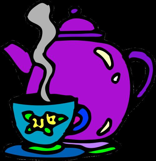 tea set teapot cup