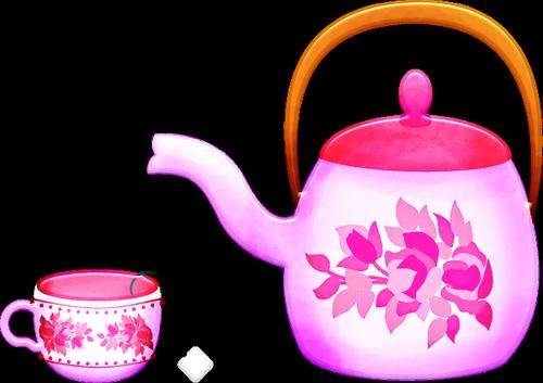 tea set  teapot  teacup